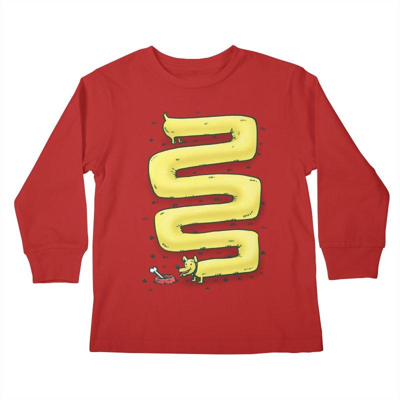 Infinite Wiener Dog Kids Longsleeve T-Shirt by nickv47