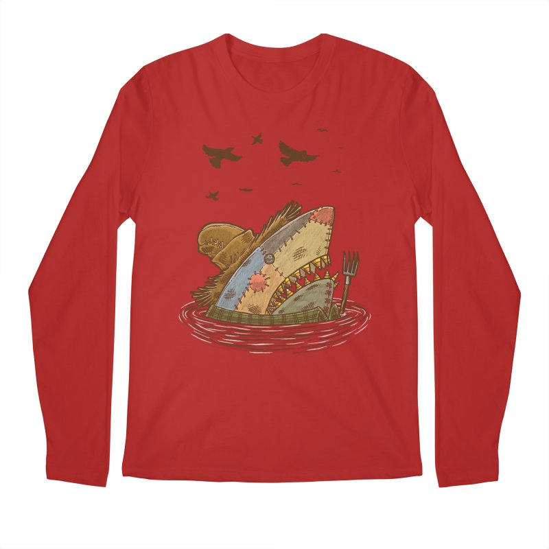 The Scarecrow Shark Men's Longsleeve T-Shirt by nickv47