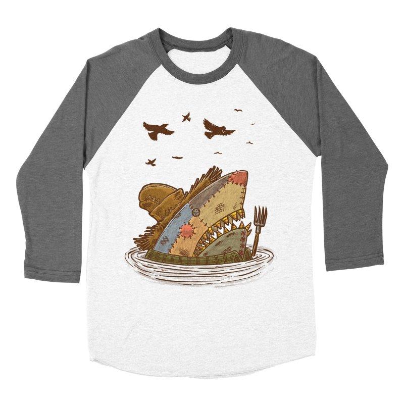 The Scarecrow Shark Men's Baseball Triblend T-Shirt by nickv47