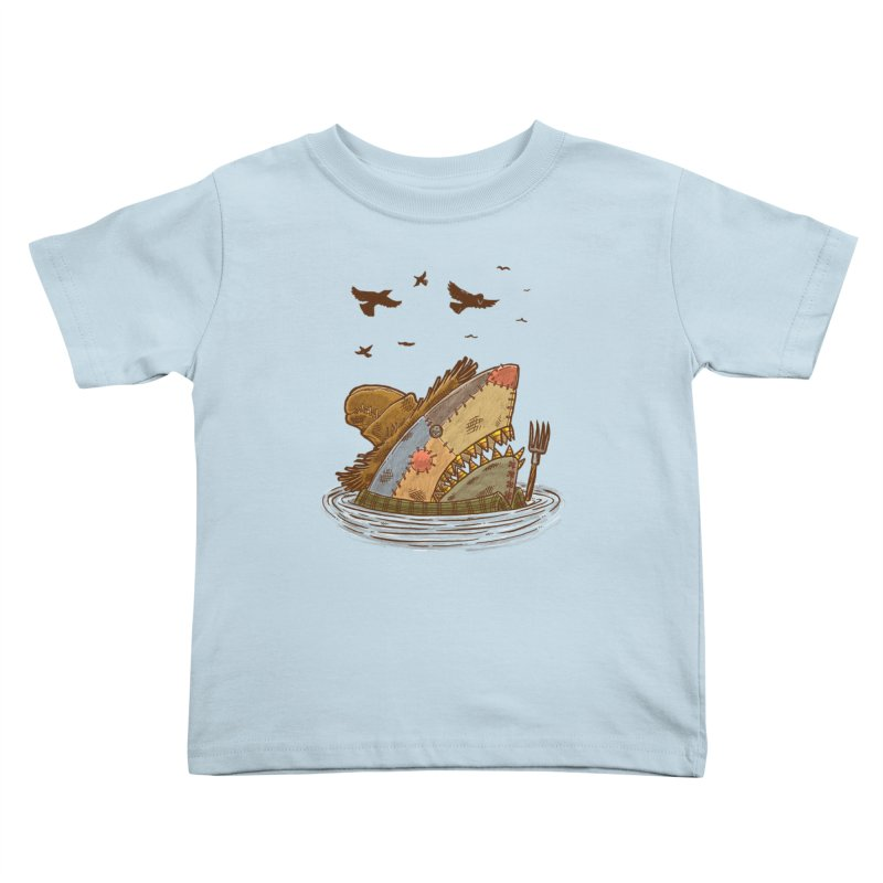 The Scarecrow Shark Kids Toddler T-Shirt by nickv47