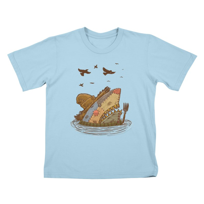 The Scarecrow Shark Kids T-Shirt by nickv47