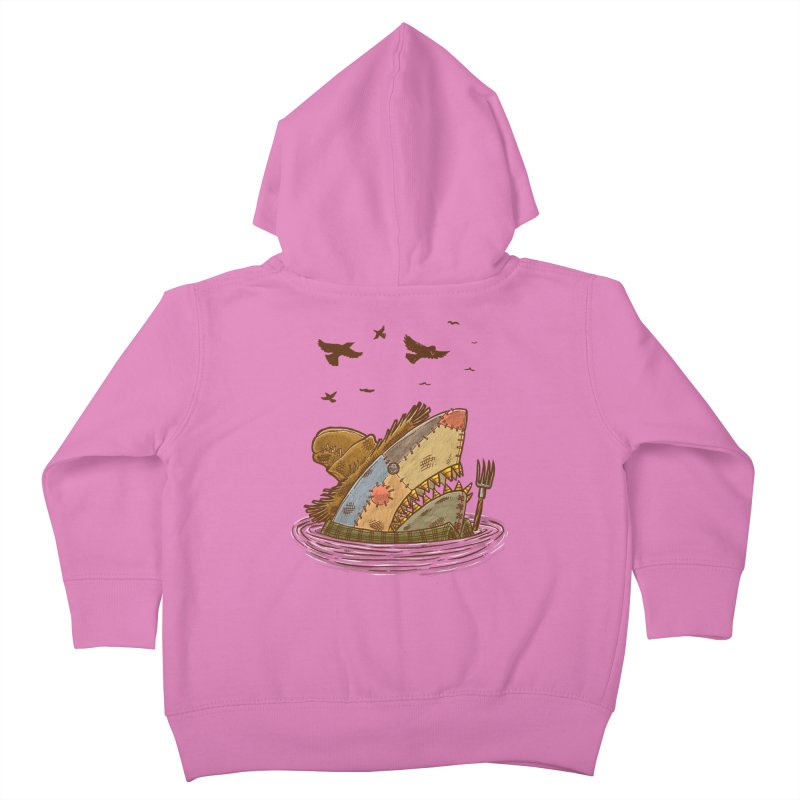 The Scarecrow Shark Kids Toddler Zip-Up Hoody by nickv47