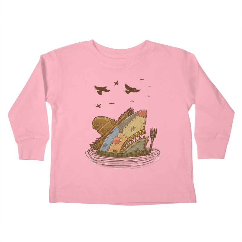 The Scarecrow Shark Kids Toddler Longsleeve T-Shirt by nickv47