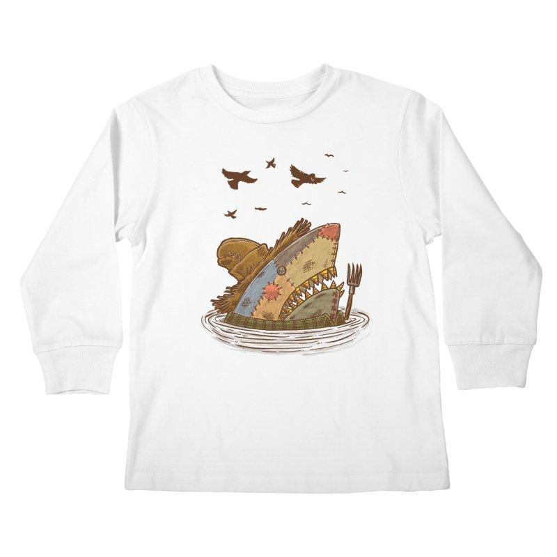 The Scarecrow Shark Kids Longsleeve T-Shirt by nickv47