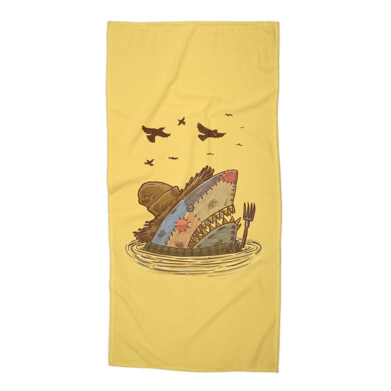 The Scarecrow Shark Accessories Beach Towel by nickv47