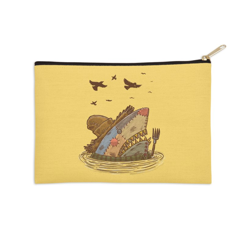 The Scarecrow Shark Accessories Zip Pouch by nickv47