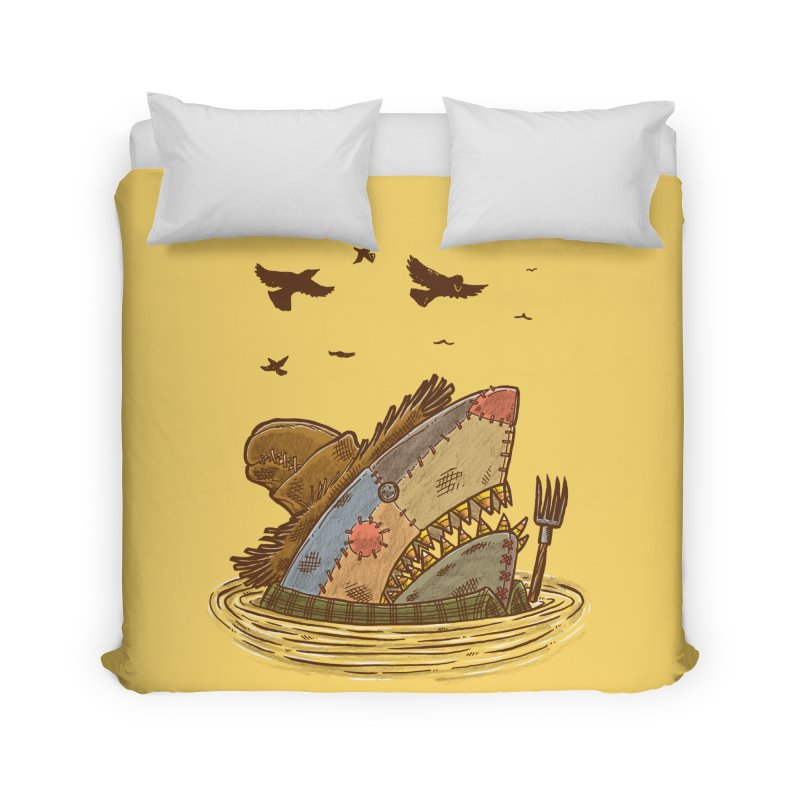 The Scarecrow Shark Home Duvet by nickv47