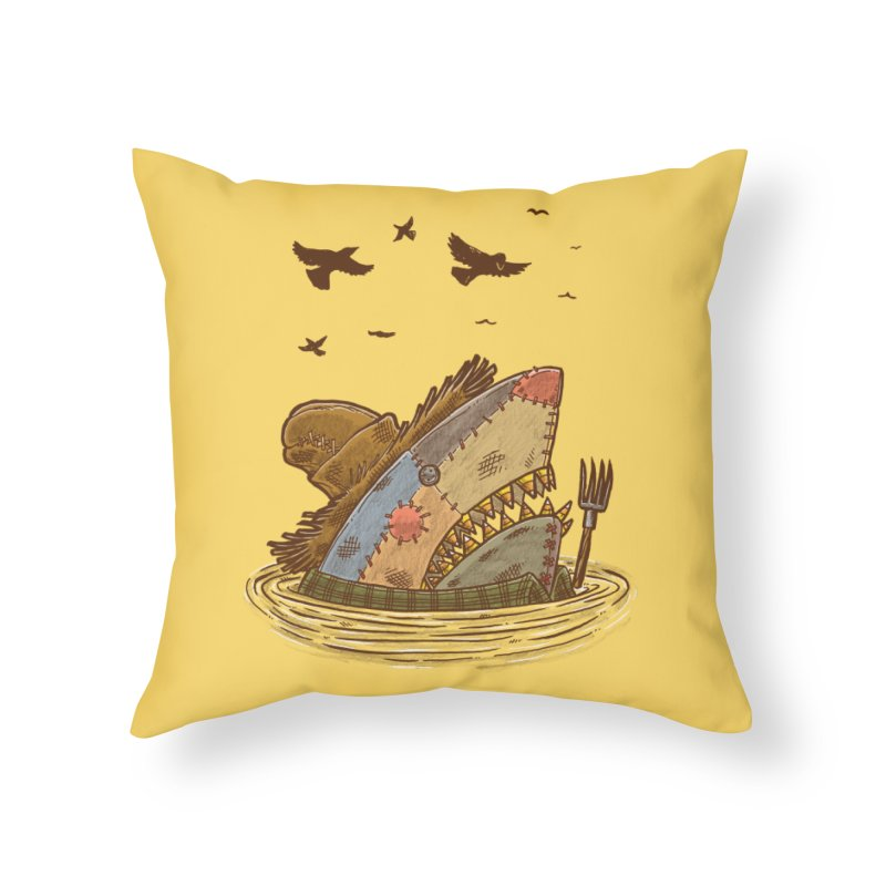 The Scarecrow Shark Home Throw Pillow by nickv47