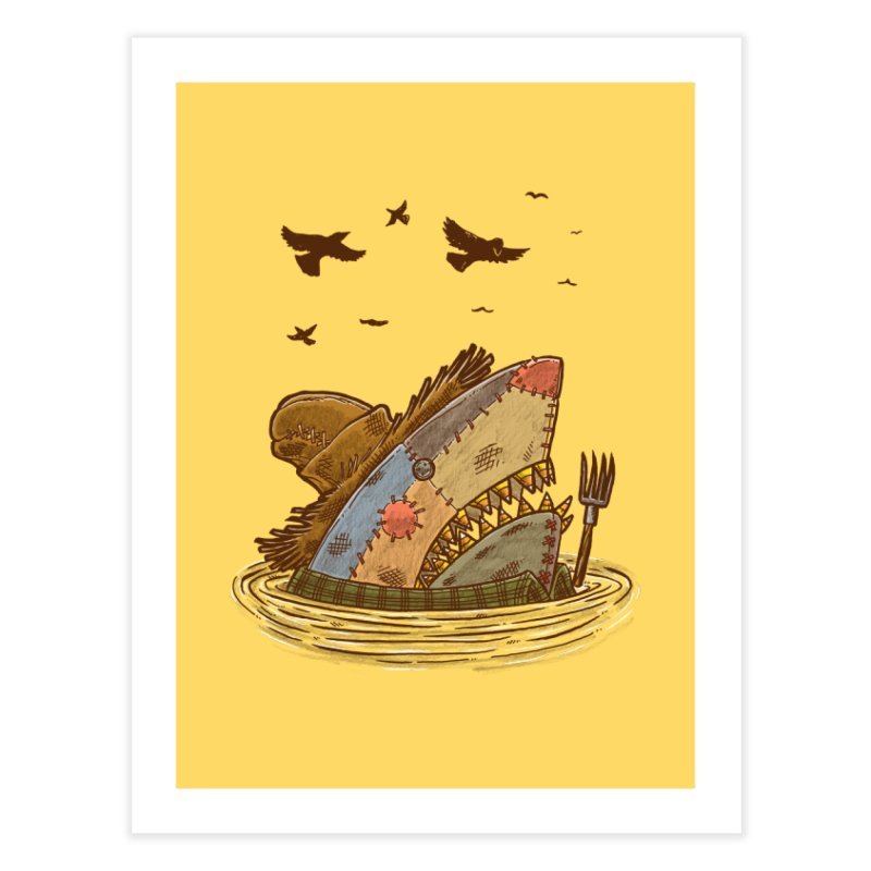 The Scarecrow Shark Home Fine Art Print by nickv47