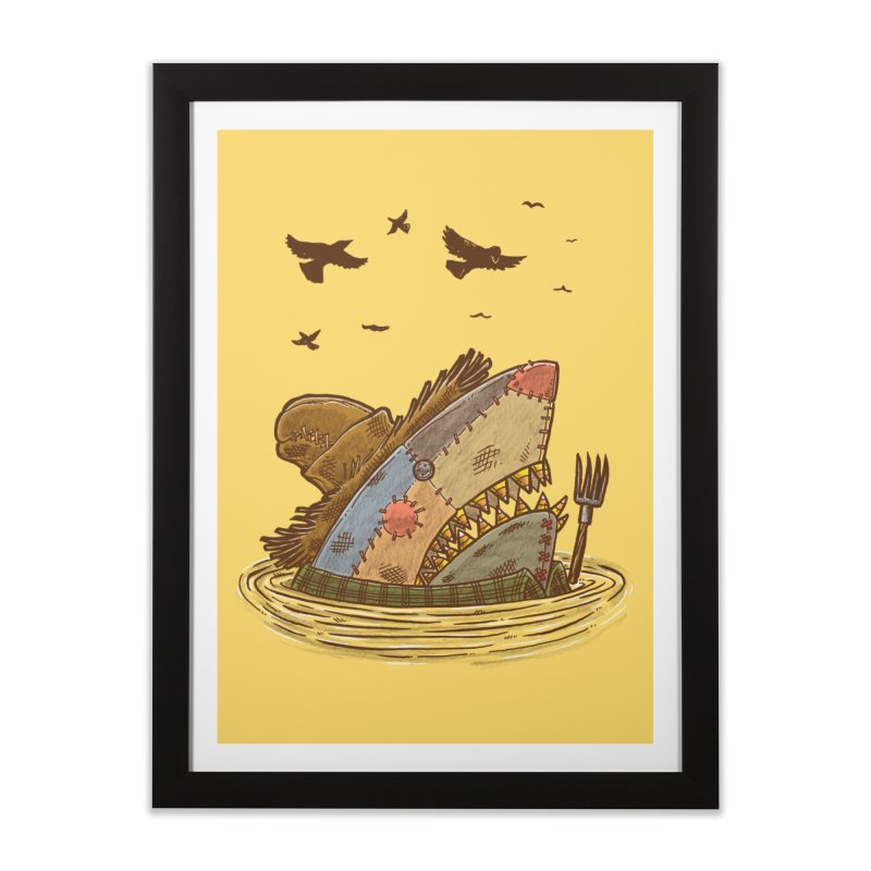 The Scarecrow Shark Home Framed Fine Art Print by nickv47