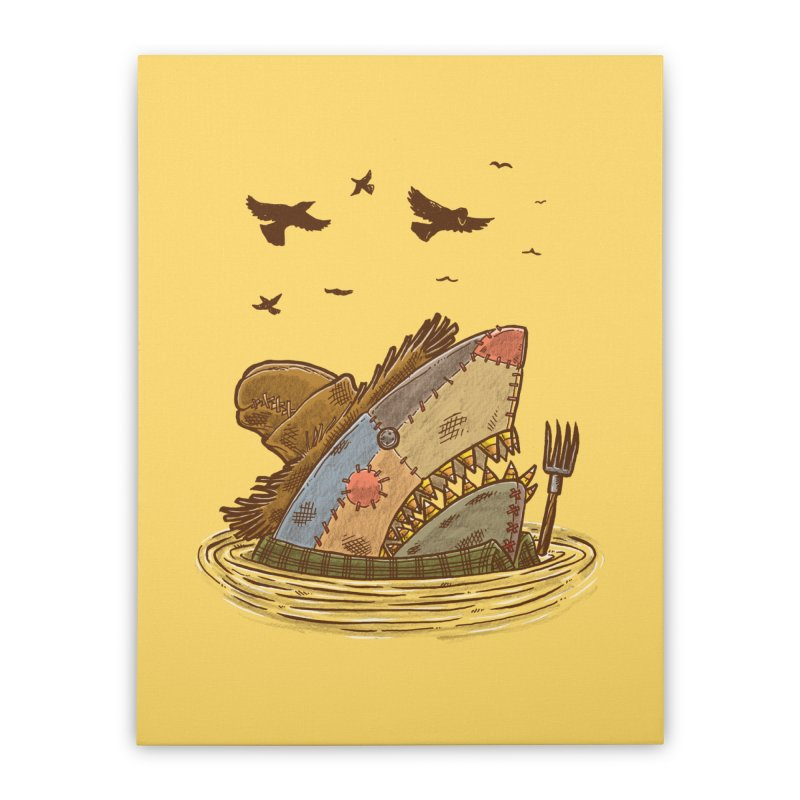The Scarecrow Shark Home Stretched Canvas by nickv47