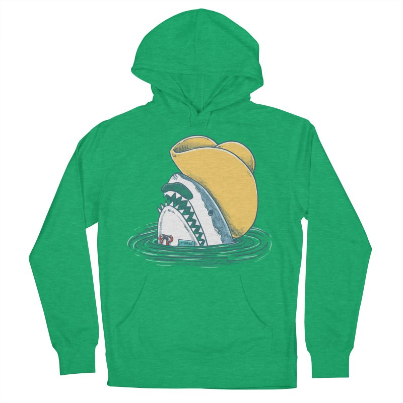 The Funny Hat Shark Men's Pullover Hoody by nickv47
