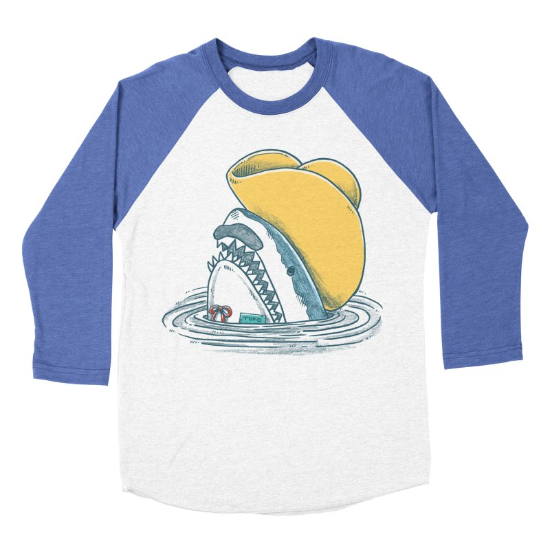 The Funny Hat Shark Men's Baseball Triblend T-Shirt by nickv47