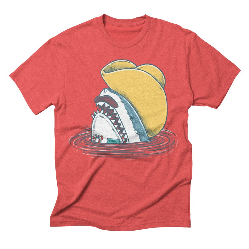 The Funny Hat Shark Men's Triblend T-shirt by nickv47