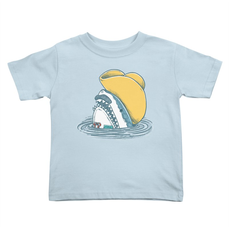 The Funny Hat Shark Kids Toddler T-Shirt by nickv47
