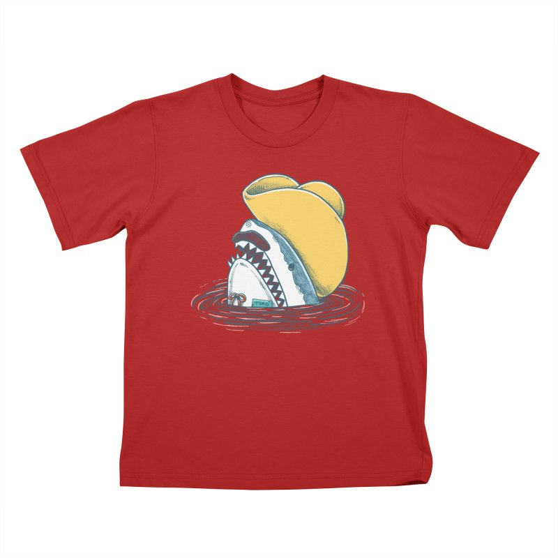 The Funny Hat Shark Kids T-shirt by nickv47