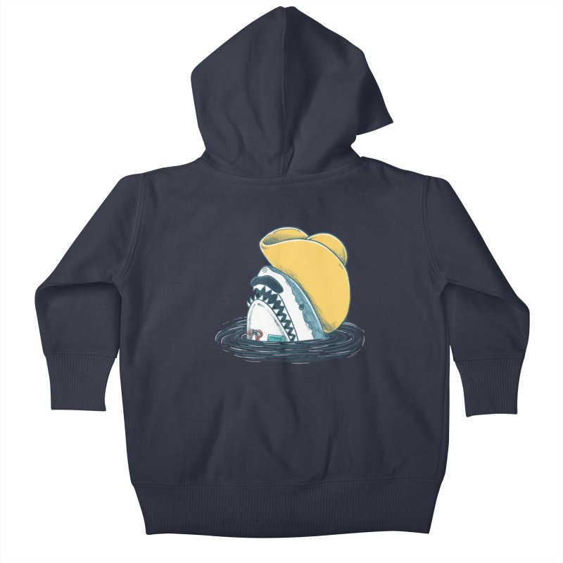 The Funny Hat Shark Kids Baby Zip-Up Hoody by nickv47