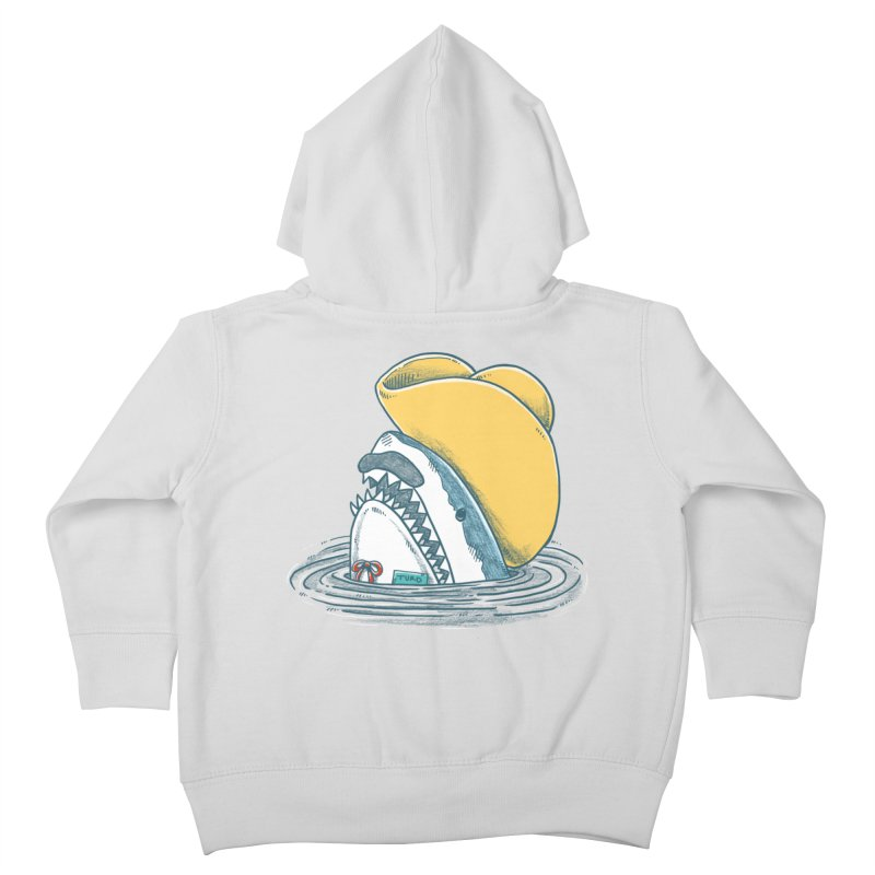 The Funny Hat Shark Kids Toddler Zip-Up Hoody by nickv47