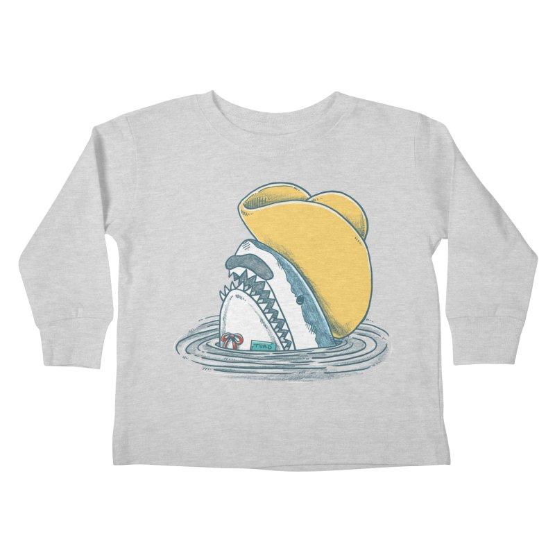 The Funny Hat Shark Kids Toddler Longsleeve T-Shirt by nickv47