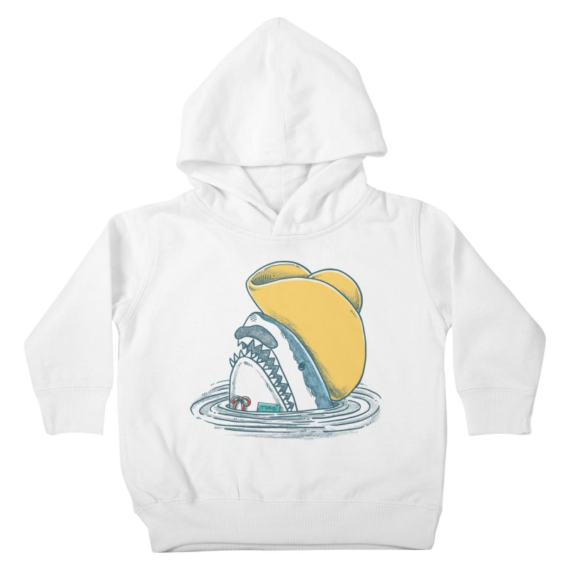 The Funny Hat Shark Kids Toddler Pullover Hoody by nickv47