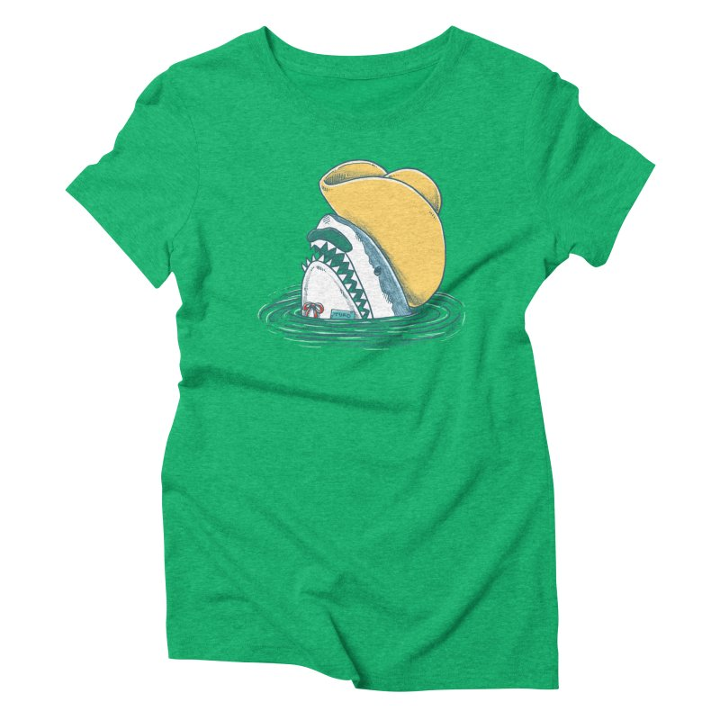 The Funny Hat Shark Women's Triblend T-shirt by nickv47