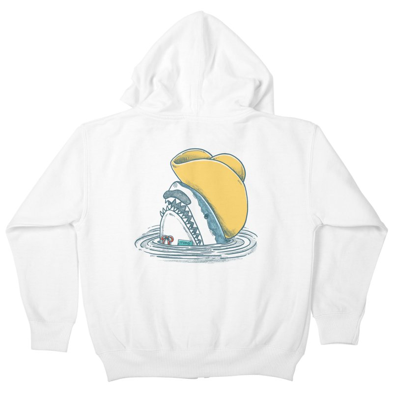 The Funny Hat Shark Kids Zip-Up Hoody by nickv47
