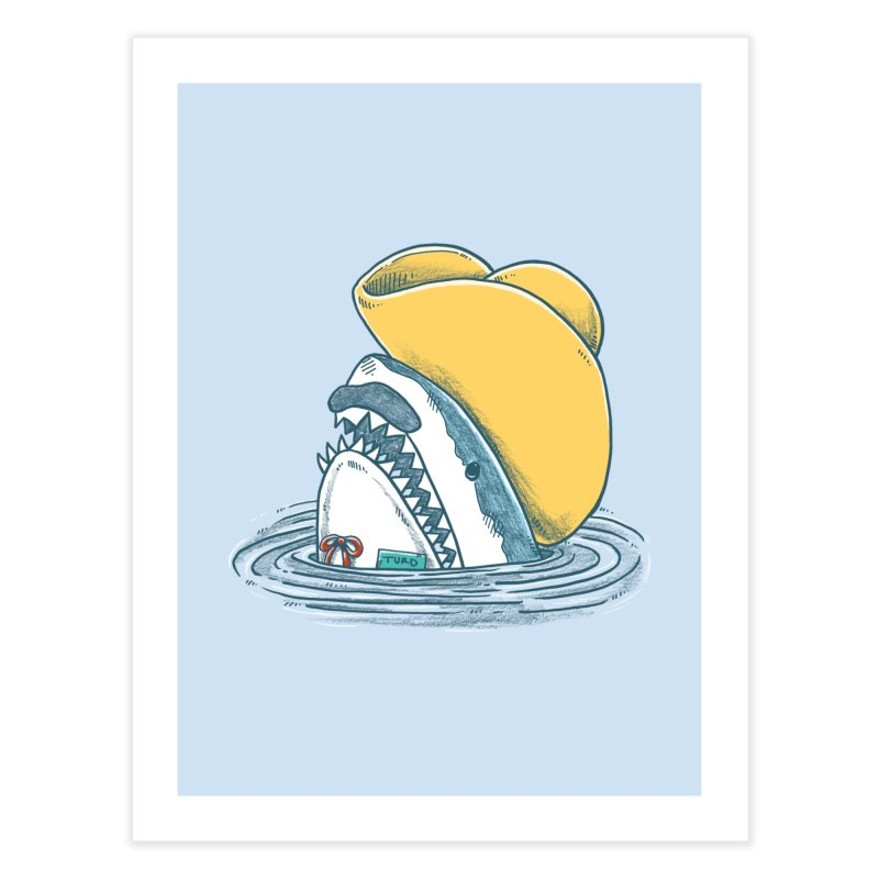The Funny Hat Shark Home Fine Art Print by nickv47