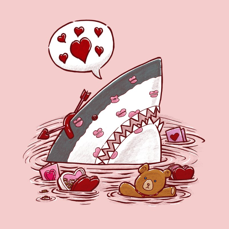 Valentines Day Shark Kids T-shirt by nickv47
