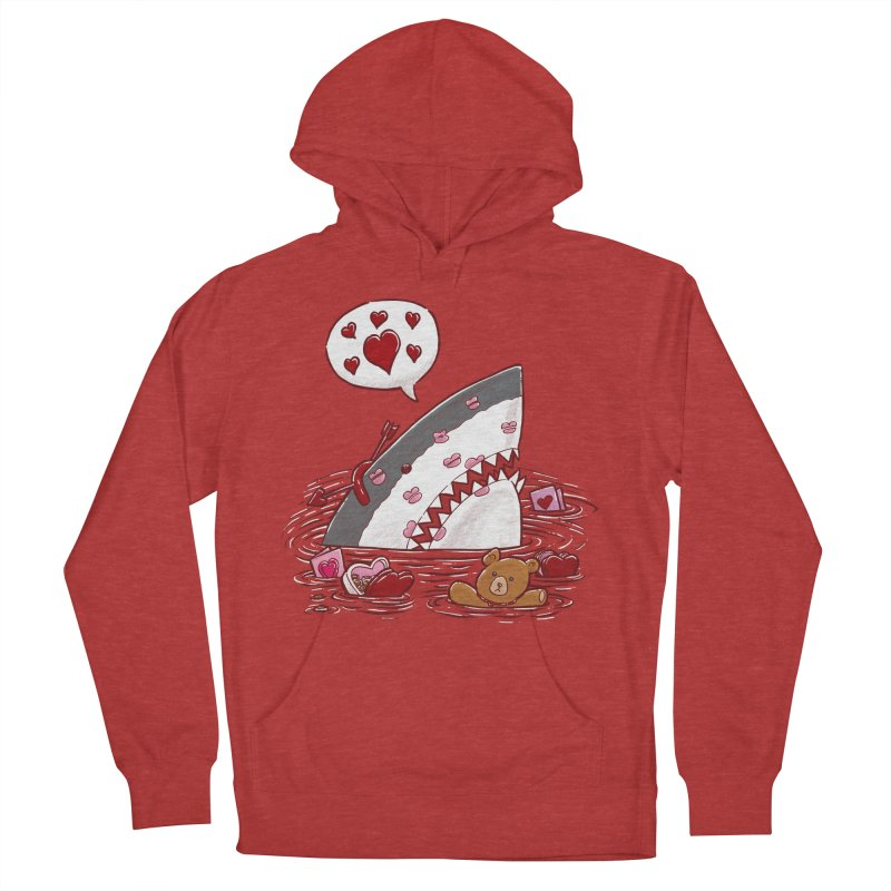 Valentines Day Shark Women's Pullover Hoody by nickv47