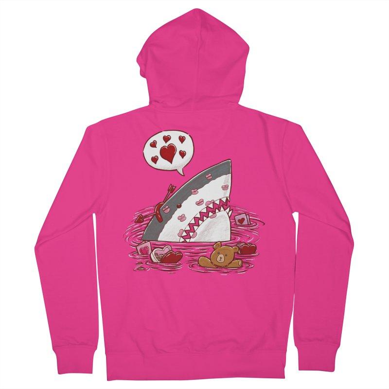 Valentines Day Shark Men's Zip-Up Hoody by nickv47