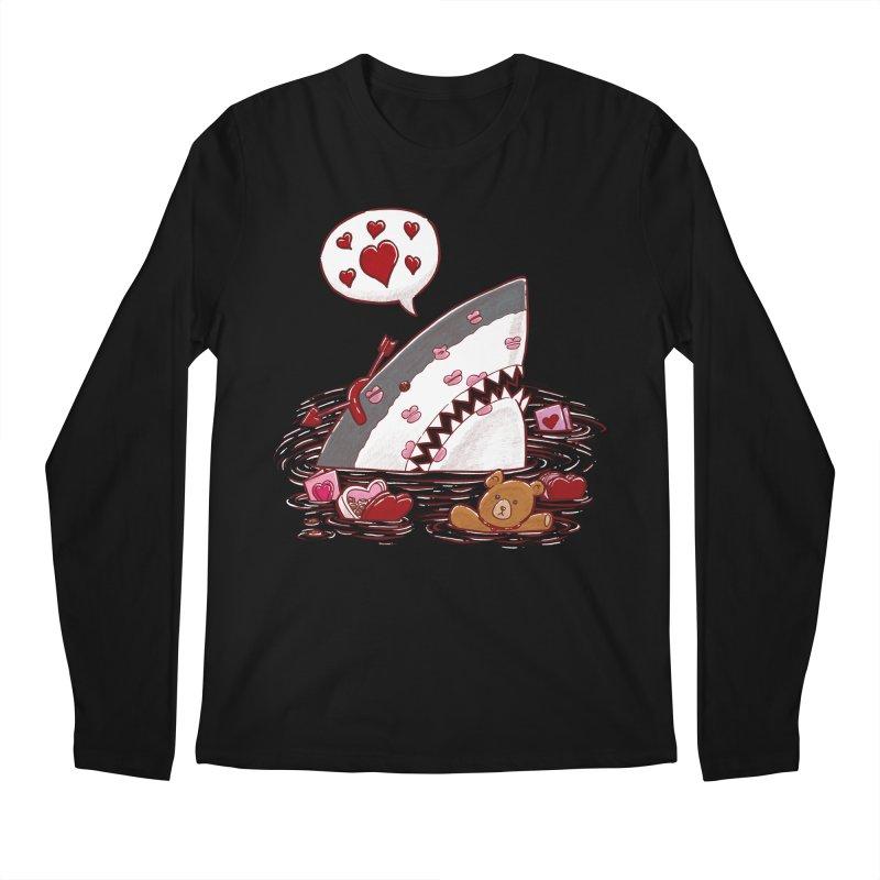 Valentines Day Shark Men's Longsleeve T-Shirt by nickv47