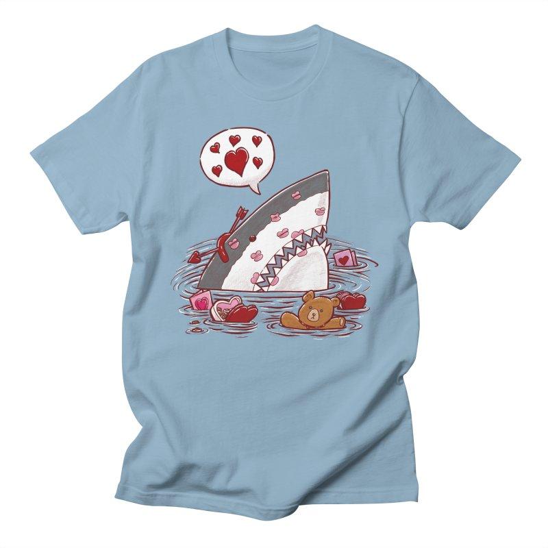 Valentines Day Shark Men's T-shirt by nickv47