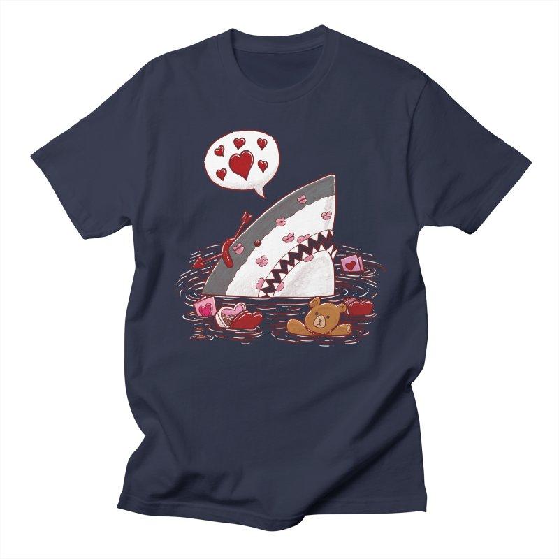 Valentines Day Shark Women's Unisex T-Shirt by nickv47