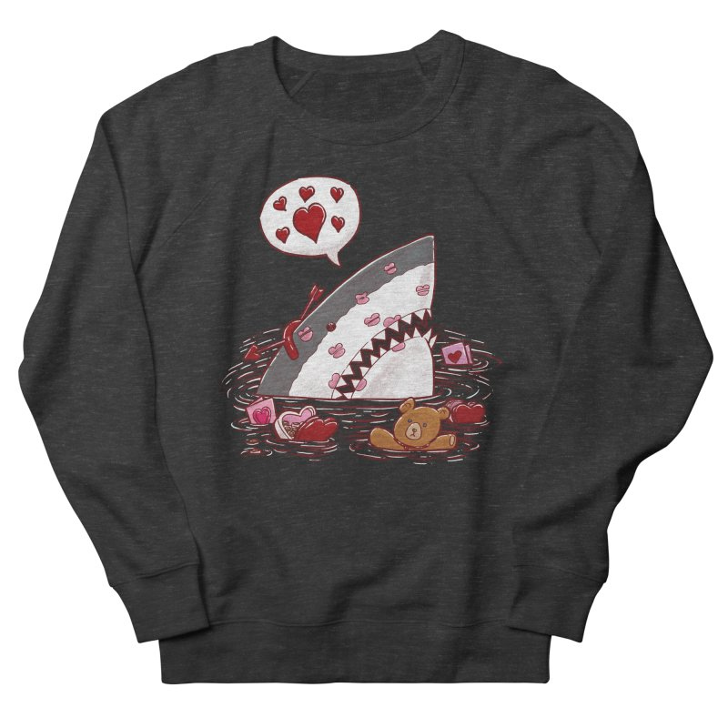 Valentines Day Shark Women's Sweatshirt by nickv47