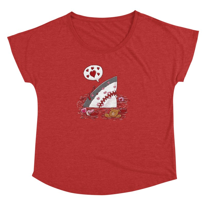 Valentines Day Shark Women's Dolman by nickv47
