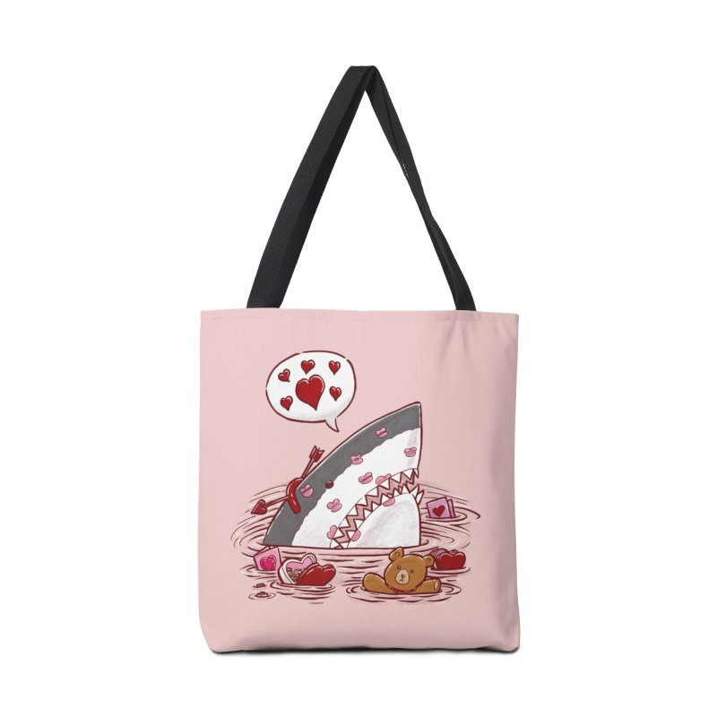 Valentines Day Shark Accessories Bag by nickv47