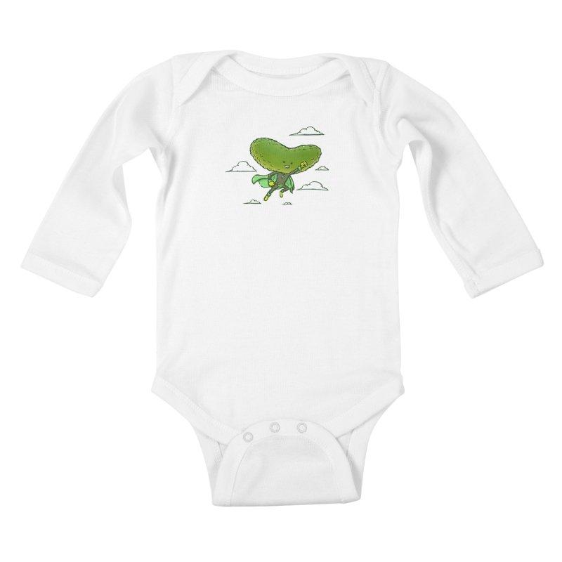 The Super Pickle Kids Baby Longsleeve Bodysuit by nickv47