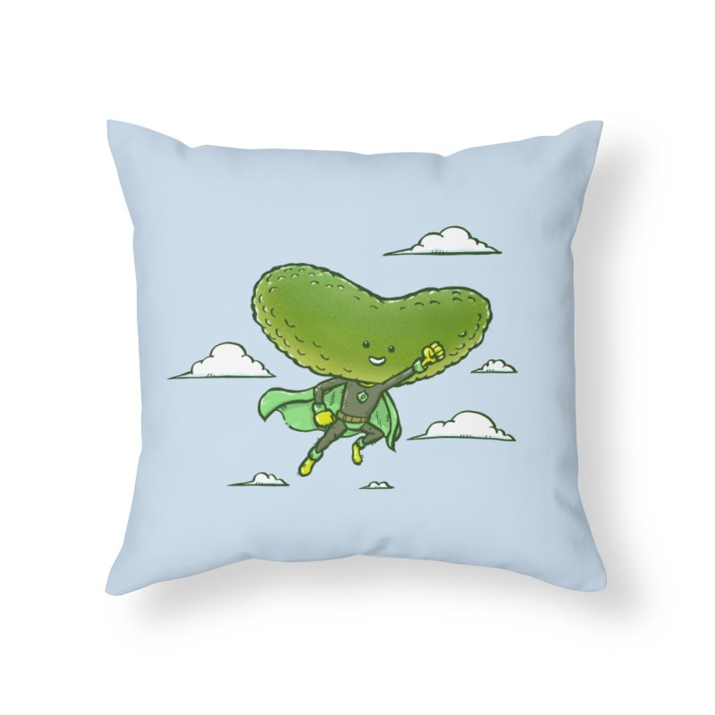 The Super Pickle Home Throw Pillow by nickv47