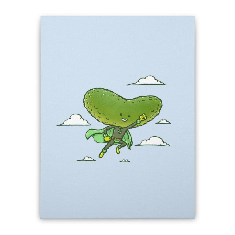 The Super Pickle Home Stretched Canvas by nickv47