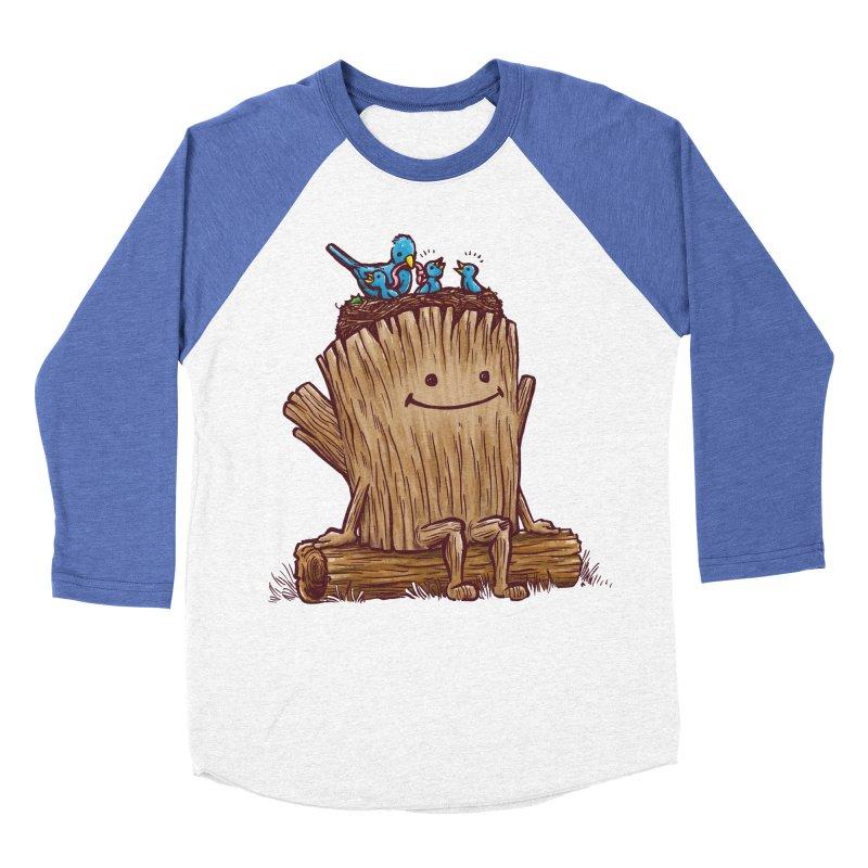 Good Day Log's Bird Nest Men's Baseball Triblend T-Shirt by nickv47
