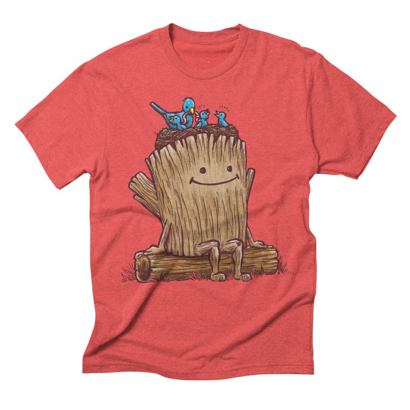 Good Day Log's Bird Nest Men's Triblend T-shirt by nickv47