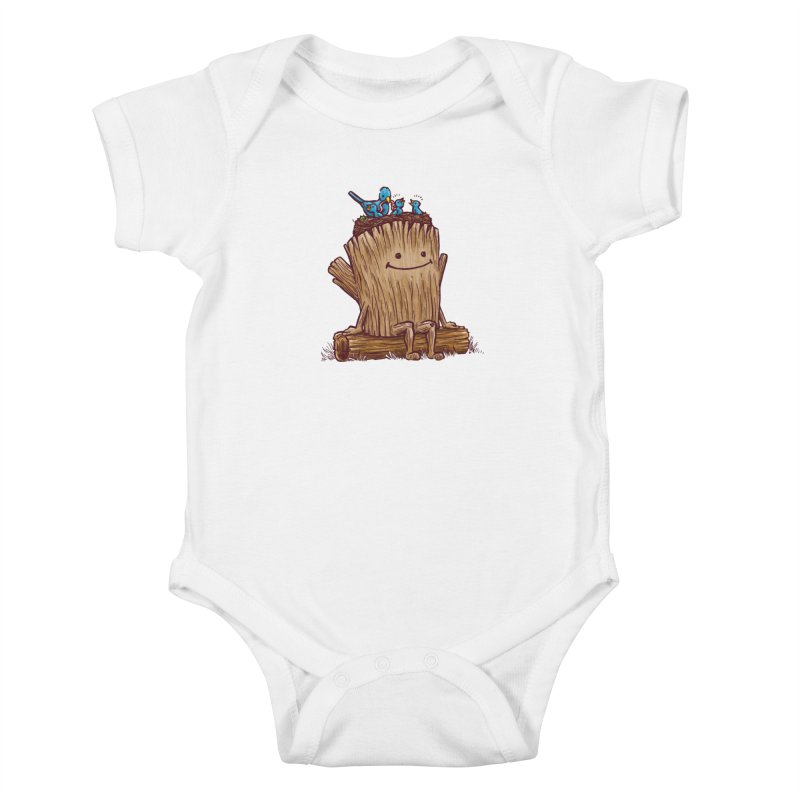 Good Day Log's Bird Nest Kids Baby Bodysuit by nickv47