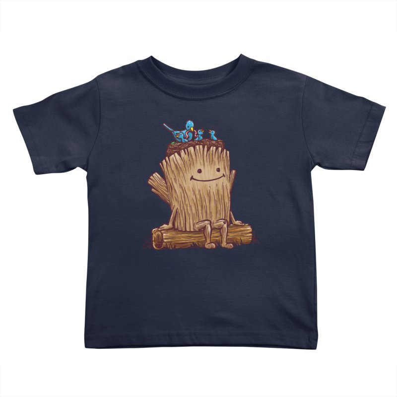 Good Day Log's Bird Nest Kids Toddler T-Shirt by nickv47