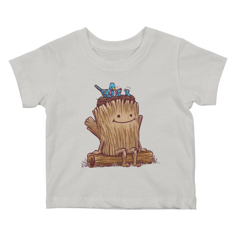 Good Day Log's Bird Nest Kids Baby T-Shirt by nickv47