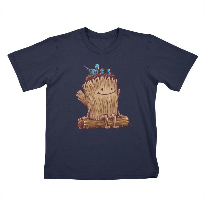 Good Day Log's Bird Nest Kids T-shirt by nickv47