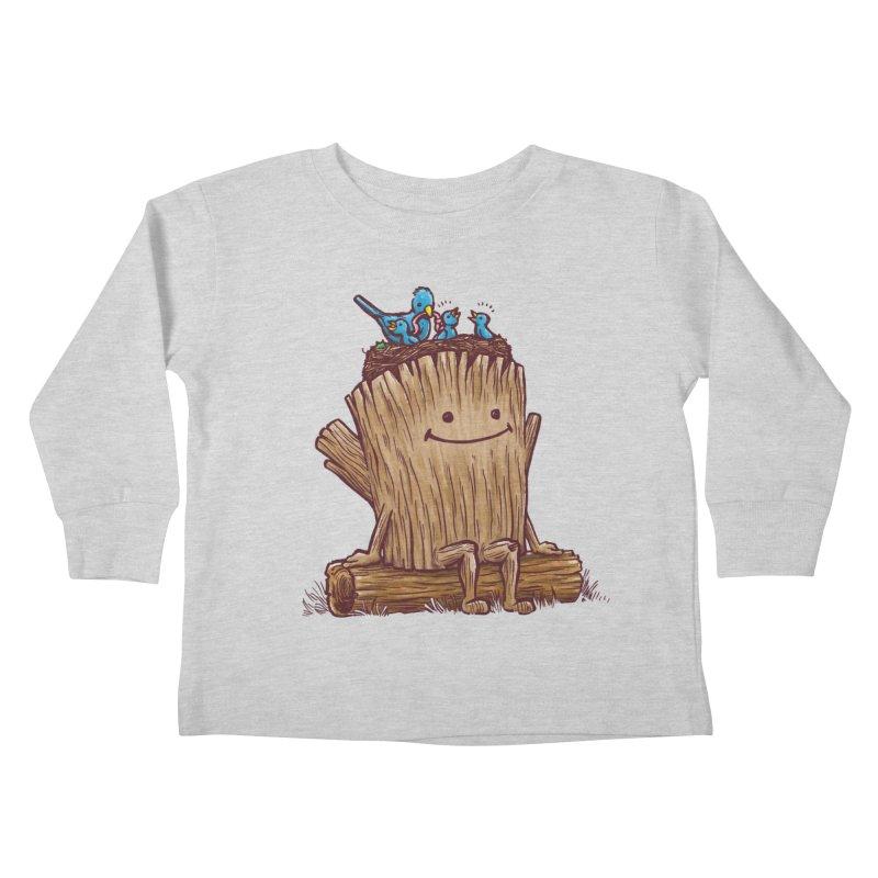 Good Day Log's Bird Nest Kids Toddler Longsleeve T-Shirt by nickv47