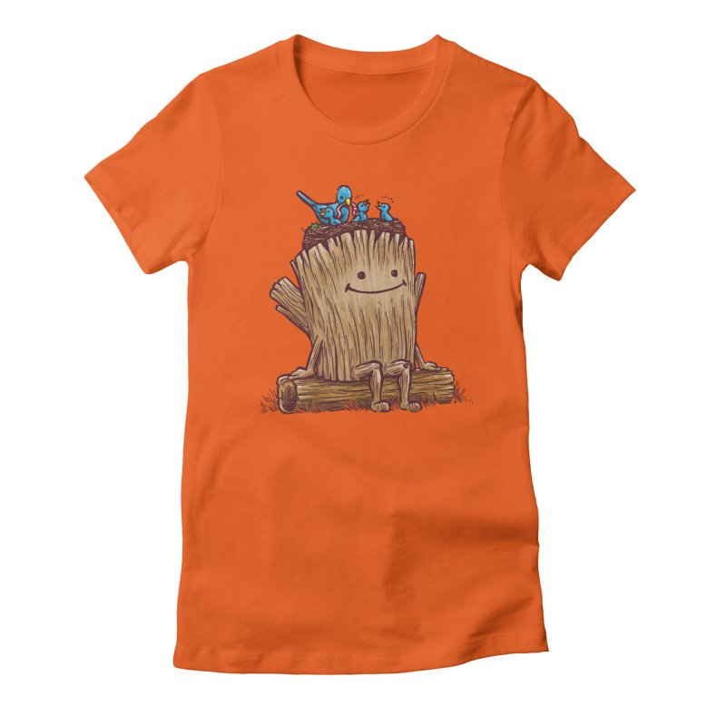 Good Day Log's Bird Nest Women's Fitted T-Shirt by nickv47
