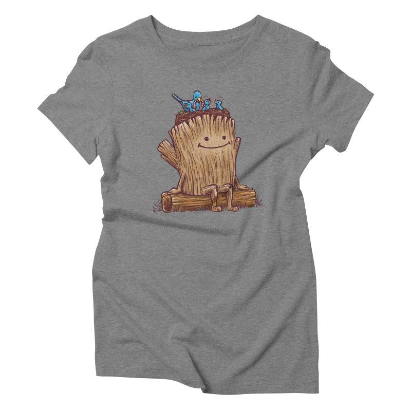 Good Day Log's Bird Nest Women's Triblend T-shirt by nickv47