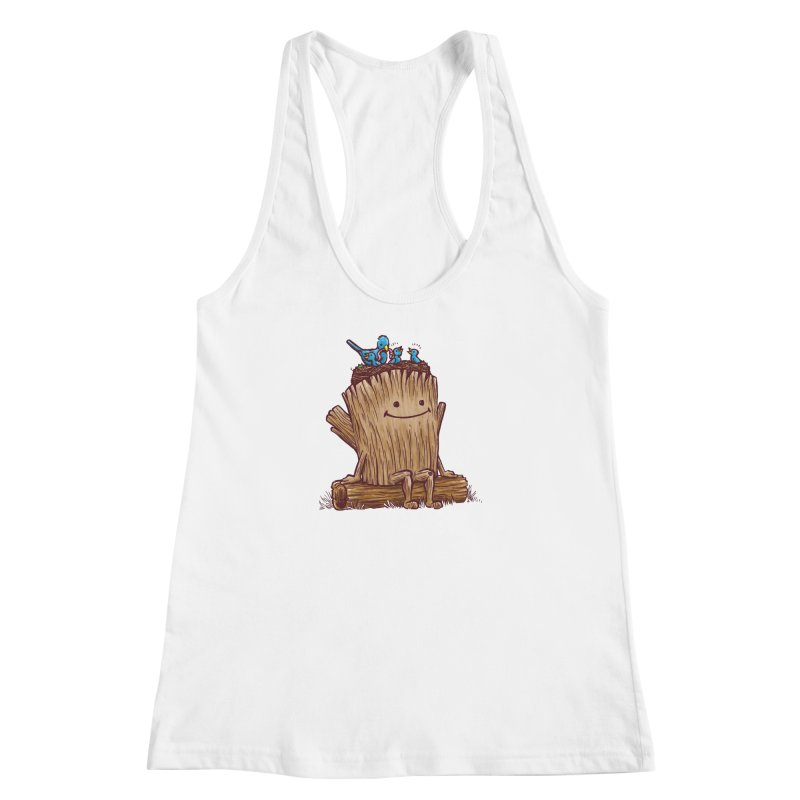 Good Day Log's Bird Nest Women's Racerback Tank by nickv47