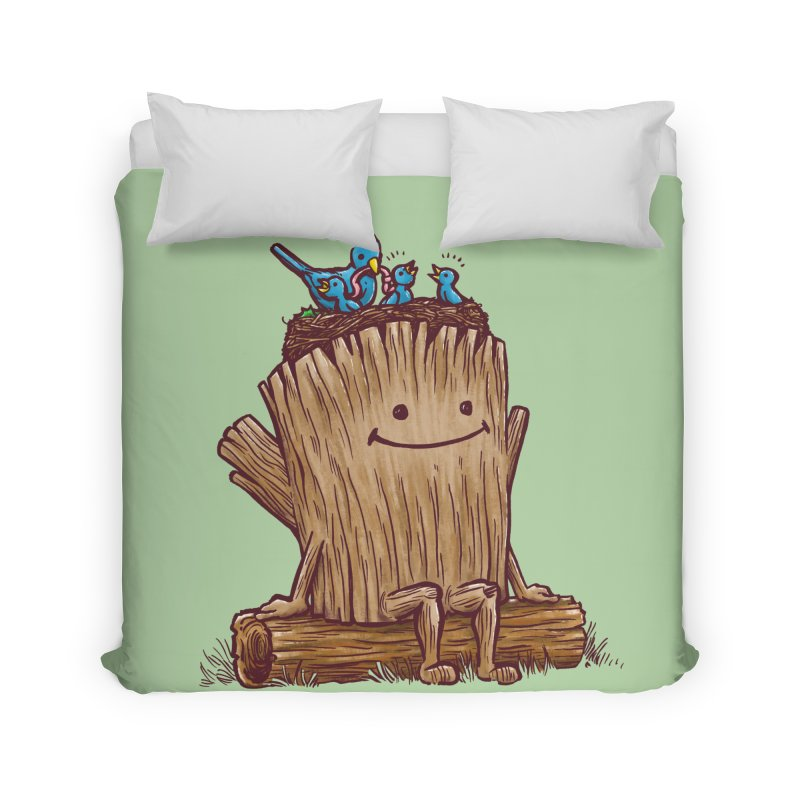 Good Day Log's Bird Nest Home Duvet by nickv47